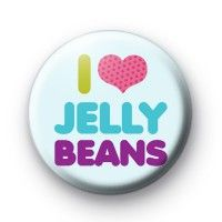 I LOve Jelly Beans Button Badges  Button Badges £0.85
