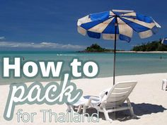 Packing list for Thailand