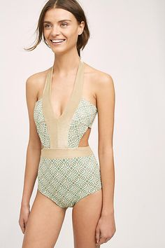 Ondademar Shimmered Geo One-Piece