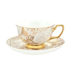 This limited edition collection 'Crystalline' has been inspired by the natural textures of crystal and stone mixed with the element of lustrous gold. Embellished in elegant 24ct gold and made from the finest quality new bone china
