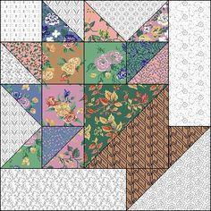 "flower basket quilt block | ... quilt block | Flower Basket 10"" block | A Quilt Tutorial and blocks"
