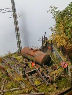 """Abandoned Rail..."" By George Mefsut. #diorama"