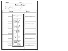 Short U and Long U Picture Sort. http://www.teacherspayteachers.com/Product/Long-U-vowel-sound-literacy-center-activities-worksheets