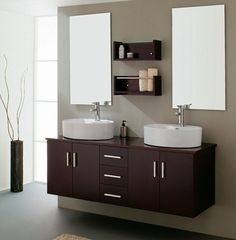Virtu Enya Double Bathroom Vanity Set In Espresso Vanities Fixtures Bed Bath