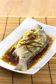 ... - Steamed Fish on Pinterest | Steamed fish recipe, Fish and Chinese