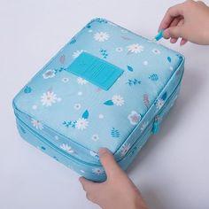 Portable Toiletry Cosmetic Bag Waterproof Makeup Make Up Wash Organizer Storage Pouch Travel Kit Handbag Brand Design Neceser Travel Cosmetic Bags, Travel Toiletries, Cosmetic Case, Toiletry Storage, Toiletry Bag, Handbag Storage, Make Up Organiser, Waterproof Makeup, Makeup Case