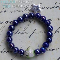 Sininen nukkuva limepöllö rannekoru 15€ #owl #bracelet #armcandy #pöllö #pöllökorut