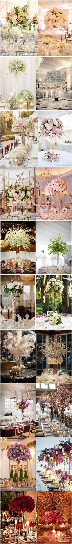 TOP 20 Tall wedding centerpiece ideas