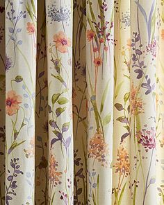 Hampshire Lined Pencil Pleat Curtains Pleated Curtains, Floral Curtains, Cozy Reading Rooms, Latest Curtain Designs, Teapot Lamp, Linen Upholstery Fabric, Pencil Pleat, Metal Clock, Bathroom Design Small