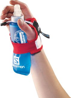 Salomon Sense Hydro S-Lab Set.  uses soft, vented fabrics to lock any Salomon soft flask from 150 to 1000ml into your otherwise hot, sweaty palm. Because the flask is collapsible, water won't bounce or slosh. With the easy on-off harness, you won't drop it in the middle of your run. $40;