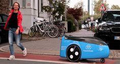 Estos vehículos sin conductor transportan a lo largo y ancho de las ciudades las piezas que necesiten los ascensores de la compañía Thyssenkrupp con rapidez.