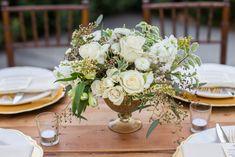 Gold Rush Large Gold Centerpiece — Bloominous Flowers Modern Wedding Flowers, Wedding Reception Flowers, Wedding Reception Decorations, Flower Bouquet Wedding, Floral Wedding, Wedding Ideas, Wedding Inspiration, Tent Wedding, Bridal Bouquets
