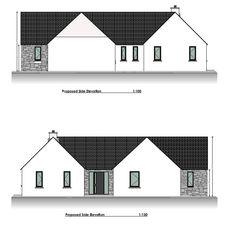 Bungalow Renovation, Farmhouse Renovation, Bungalow House Design, Modern Bungalow, Old School House, Building A House, Irish, House Plans, House Ideas