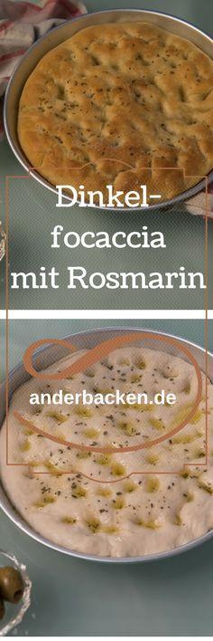 Klassische Focaccia mit Dinkelmehl und Rosmarin. Ein Stück Italien für Zuhause.