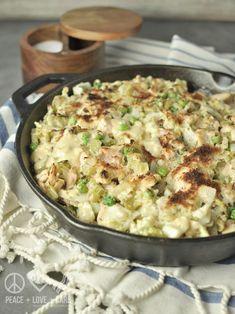 Cabbage Noodle Tuna Casserole - Low Carb, Gluten Free