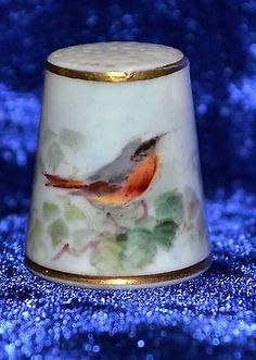 Royal-Worcester-Redstart-Thimble-William-Powell-Handpainted-Robin-c1937 /  10 Aug, 2014 / £215.00
