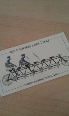 Best Customer Loyalty Card Ever!  Clever.