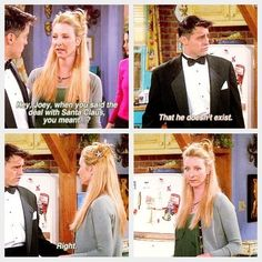 """And when Phoebe got the shock of her life.   31 """"Friends"""" Jokes That Never Get Old"""