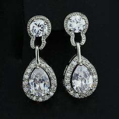 Crown Stefana Store - Teardrop Cubic Zirconia Dangle Earrings, €27.00 (http://www.crownstefana.com/teardrop-cubic-zirconia-dangle-earrings/)