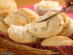These fluffy biscuits are great with a little homemade butter or jam.