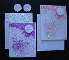 Stampin Up All Occasion Handmade Card - Birthday, Mother, Sympathy w embossing