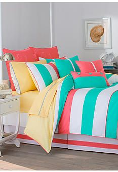 Southern Tide® Cabana Stripe Bedding Collection #belk #home
