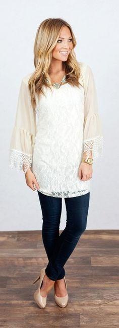 Lace Tunic Dress {Jane Deals}