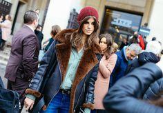 Antonina Petkovic Street Style - Couture Week SS16 Paris