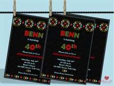 40th Birthday Invitations, 50th Birthday, Party Invitations, Mexican Party, Diy Party, Awesome, Handmade Gifts, Etsy, Kid Craft Gifts