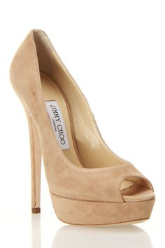 Jimmy Choo Vibe Pumps In Nude...beautiful!  and probably dangerous to walk in! I WANT THEM!!!!!