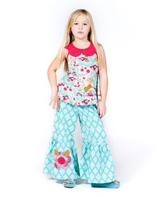 Look at this Blue Kortori Amy Tunic & Pants - Infant, Toddler & Girls on #zulily today!