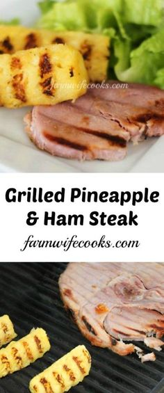 how to cook ham steak on the grill