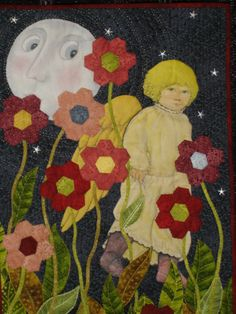She Came by the Light of the Moon, by Marlene Shea.  2009 Houston International Quilt Festival.  Photo by Andrea Fox.