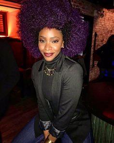 Big Purple Curls Of Royalty IG:Teyonah Parris #naturalhair