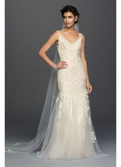 Melissa Sweet Illusion Lace Mermaid Wedding Dress MS251150. David's.