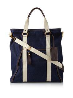 The Classic Bag, Blue Denim/Cream