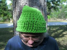 Handmade Green crocheted winter hat by CanadianCraftCritter, $20.00