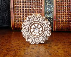 Flower Stamp, Sun Stamp, Hand Carved Wood Printing Block from India, by DelhiDaze, $12.00