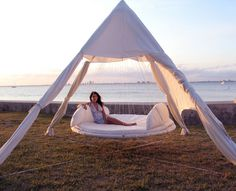 The Outdoor floating bed.