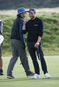 Jamie Dornan at Alfred Dunhill Golf Championships Oct2014