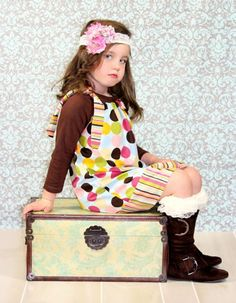 Baby Girls Dresses- Sassy Dots, Sizes NB-3T..Toddler Baby Dress, Newbo | sassysweetbaby - Clothing on ArtFire