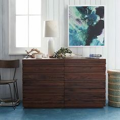 Stria 6-Drawer Dresser #westelm i need this set to go with my door head board!
