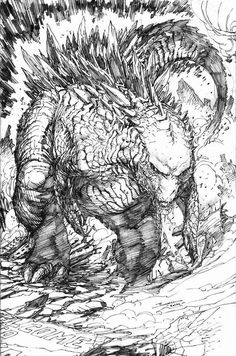 Godzilla, Godzilla Coloring Pages for Kids LineArt