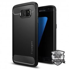 Spigen® [Rugged Armor] Shockproof Cover Case for [Samsung Galaxy edge] - [IN-STOCK] Carbon-Fiber Textured Flexible Case Bump, Galaxy S7, Samsung Galaxy, Samsung Cases, Phone Cases, Satellite Phone, Mechanical Design, Good And Cheap, Tecnologia