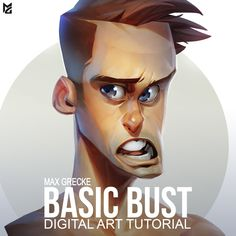 Basic Bust Digital Art tutorial - Max Grecke ★ Find more at http://www.pinterest.com/competing/