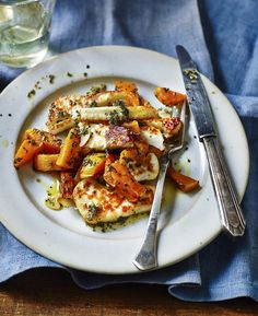 Halloumi with rosemary roasted butternut squash - made this for dinner, easy and tasty