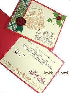 Nice list Santa certificate card Santa Certificate by CardamomsArt