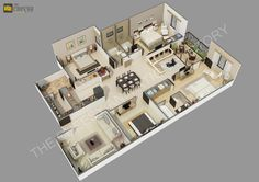 The Cheesy Animation Studio 2D And 3D Floor Plan Rendering Residential Commercial Home Bungalow PlansHouse