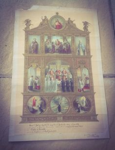 Check out Religious Lithograph. Baptism, Communion and  Confirmation Certificate Dating back to 1914. Vintage French 102 years old. on fleursenfrance