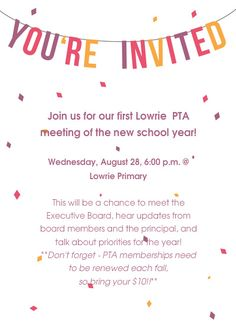 Love the explanation of why its worth going to a pta meeting pta meeting poster example from lowrie pta stopboris Gallery